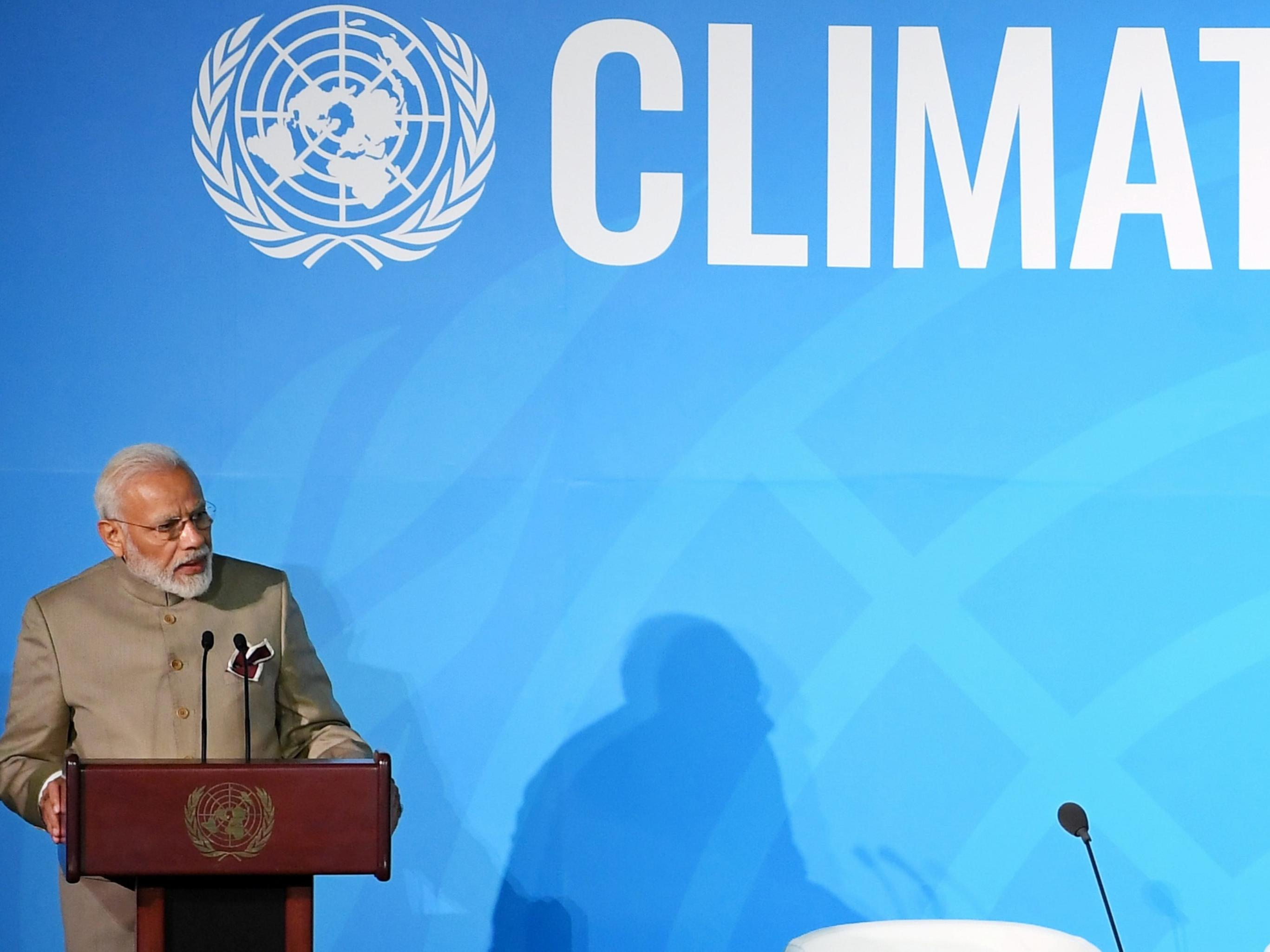 Prime Minister of India, Shri Narendra Modi announced a global Coalition for Disaster Resilient Infrastructure (CDRI), at the UN Climate Action Summit 2019 held in New York City, USA, on September 23, 2019.