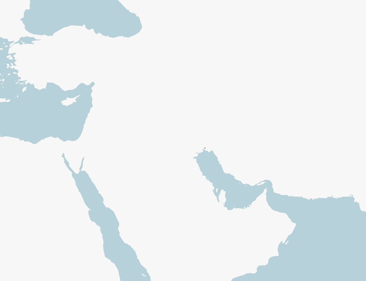 A blank map of the Arab states region