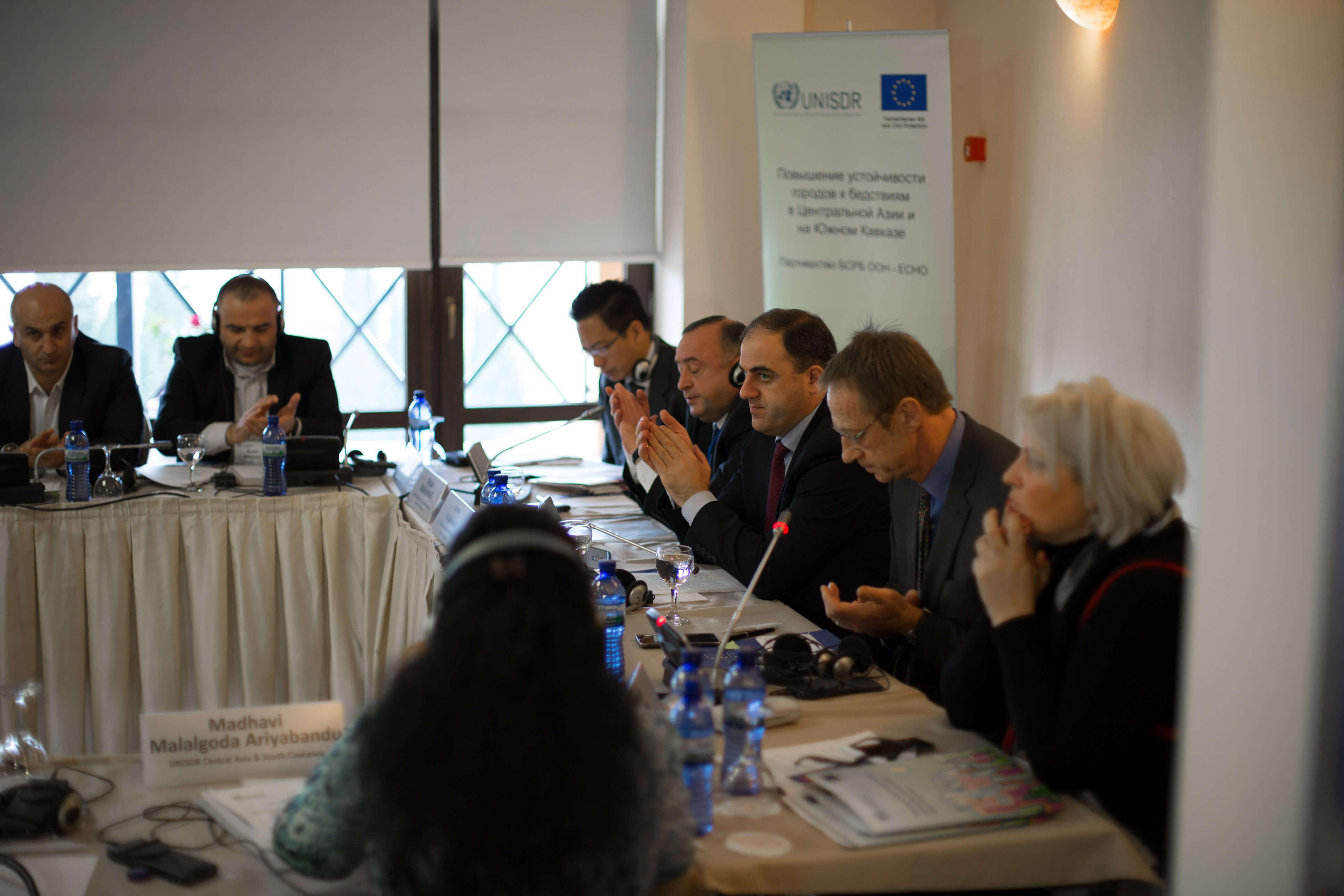 Workshop on the Resilient Cities Project in Central Asia and South Caucasus, Tbilisi, Georgia, 11 November 2015 Applause